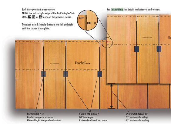 Ecoshel Cedar Shingle Panels Installation Illustration Shingle Panel Installing Shingles Cedar Shingles