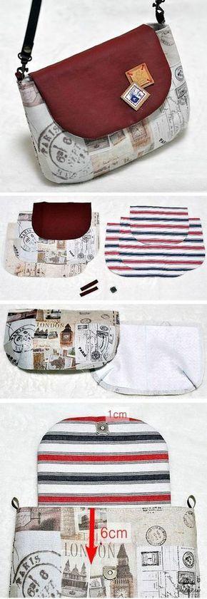 Bag with Flap Tutorial -   16 diy bag sling ideas