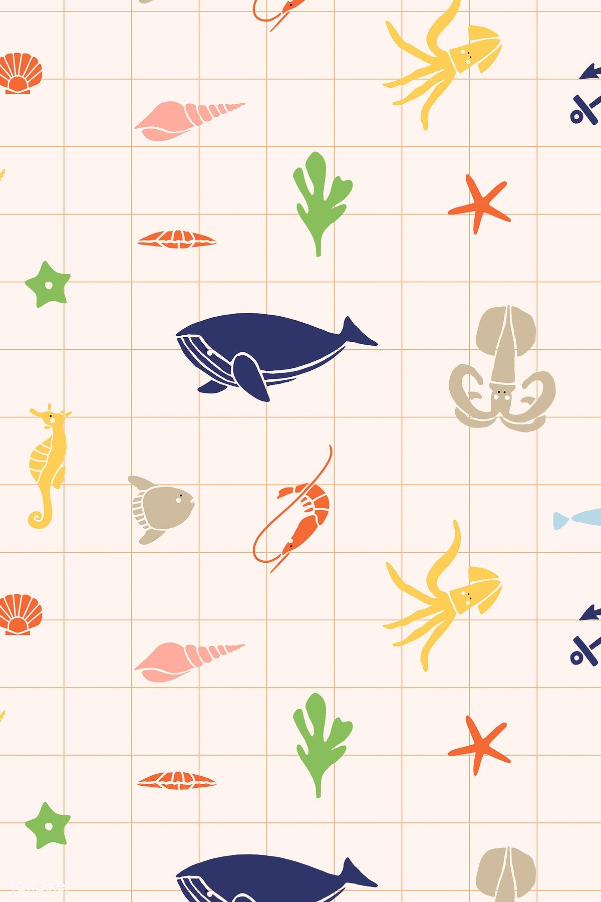 Underwater animals seamless pattern vector | free image by rawpixel.com / katie
