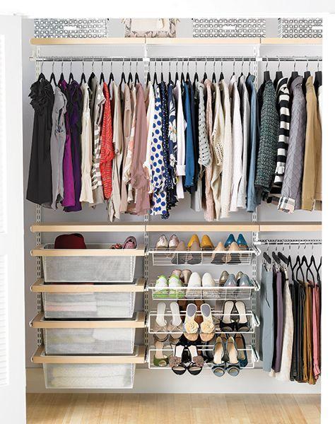Elfa Decor 6 Birch White Reach In Clothes Closet No Closet