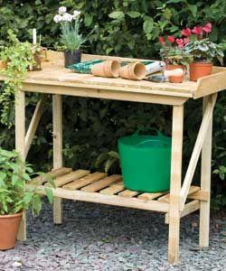 Potting Bench Homebase 29 99 Outdoor Potting Bench Potting Bench Wooden Garden
