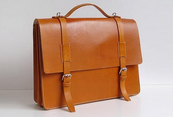 Handmade Leather messenger bag brief yellow brown for men women leather  shoulder bag db8e3e797e253