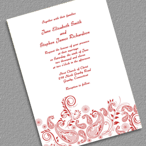 Paisley Vintage Printable Wedding Invitation Template