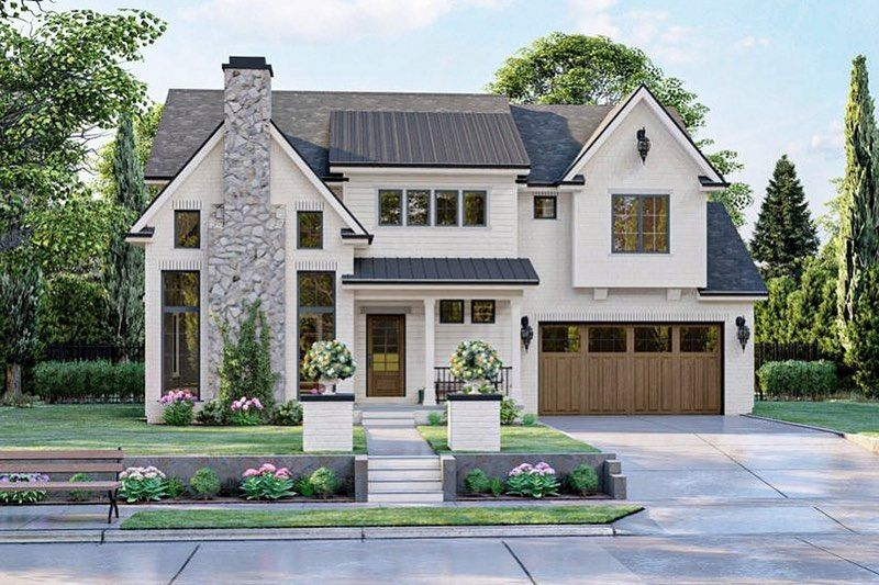 5 763 Likes 28 Comments Ad House Plans Adhouseplans On Instagram Introducing A Modern Farmhouse Plans Modern Style House Plans House Plans Farmhouse