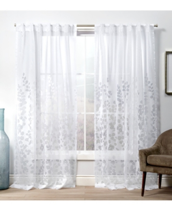 Exclusive Home Curtains Wilshire Burnout Sheer Hidden Tab Top