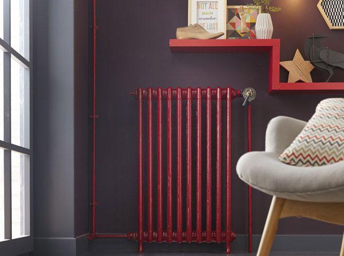 radiateur #rouge #fauteuil Living room design ideas - Hudson - Peindre Un Radiateur Electrique