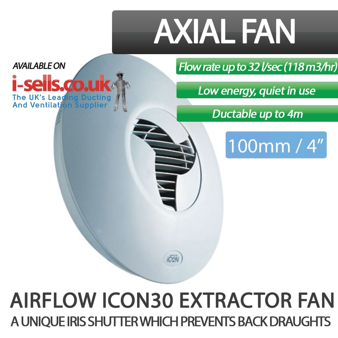 Airflow Icon30 72591601 Bathroom Fan I Sells Extractor Fans Airflow Utility Rooms