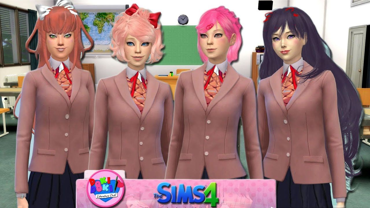 The Sims 4 Doki Doki Literature Club in Yandere Academy with