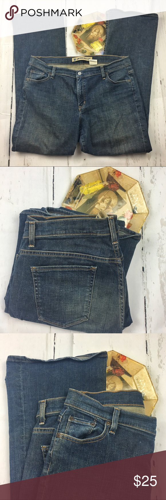 Gap low rise straight waist bootcut jeans