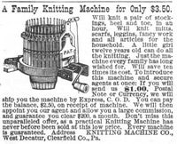 Gearhart Knitting Machine 1890 Ad Picture