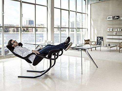 varier gravity balans zero gravity kneeling chair black step fabric