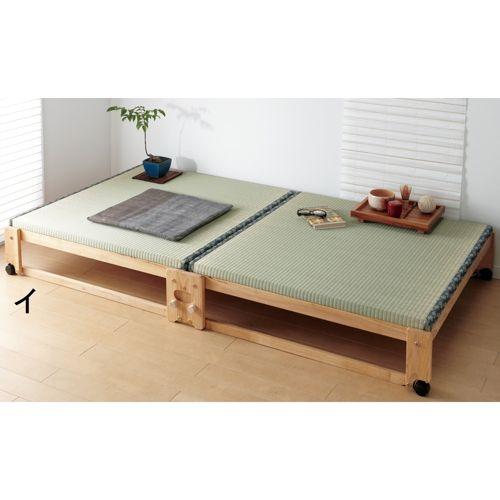 畳空間を簡単に演出できる折りたたみベッド(ハイタイプ) 通販