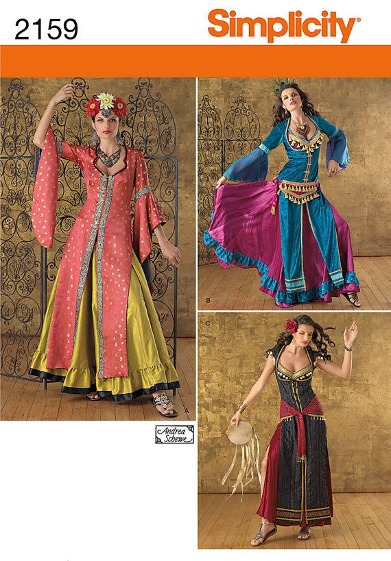 Gypsy Dress or Belly Dancing Costumes - Simplicity 2159 - New ...
