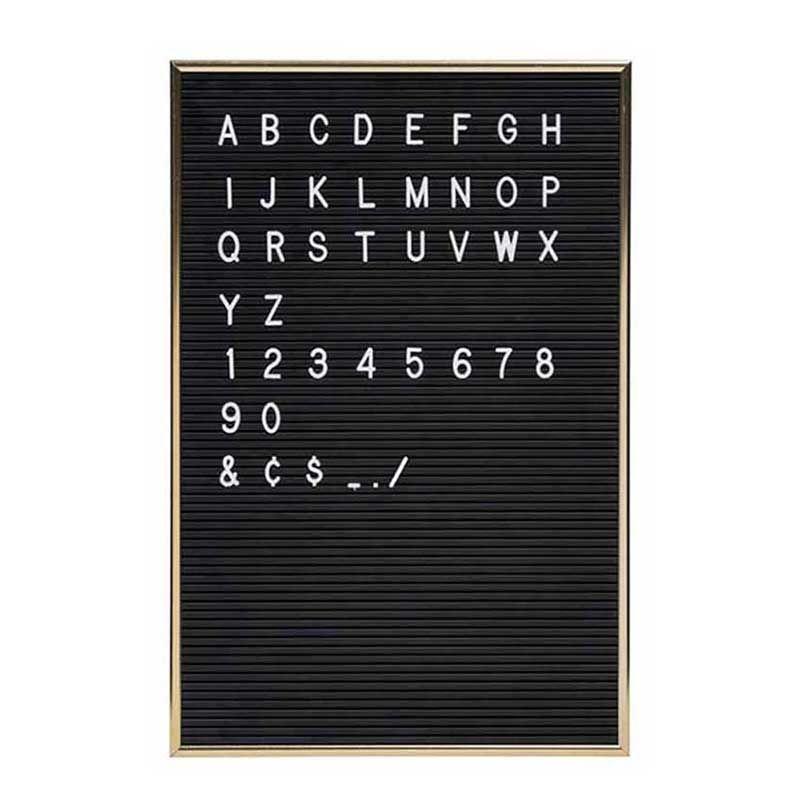 Letterboard A3, schwarz mit Goldrahmen von Jay - Jetzt Dekoration ...