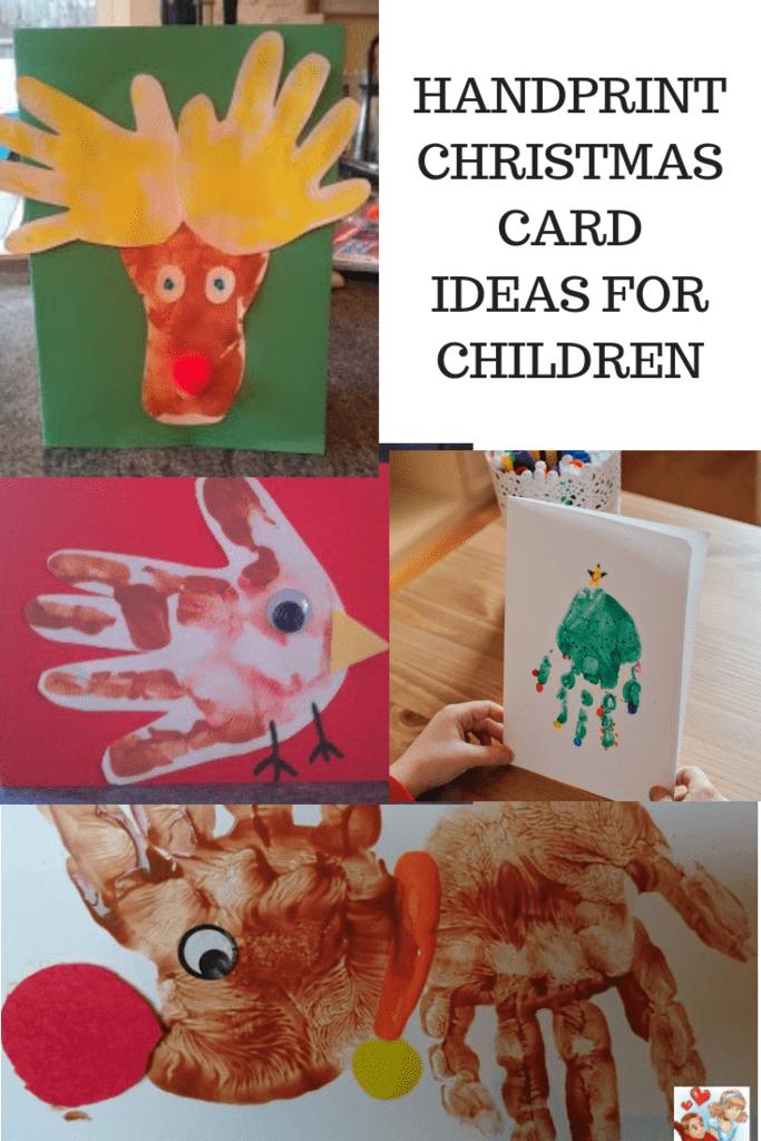 4 handprint christmas card ideas for children  emmy's