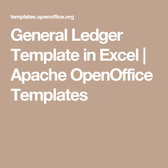 General Ledger Template In Excel  Apache Openoffice Templates