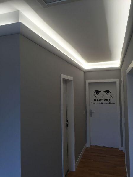 Wunderbar Treppenhausgestaltung Mit Led Licht Und Stuck 3
