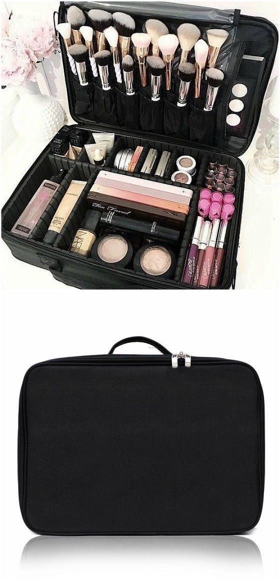 Black Makeup Bag Black makeup bag, Large makeup bag