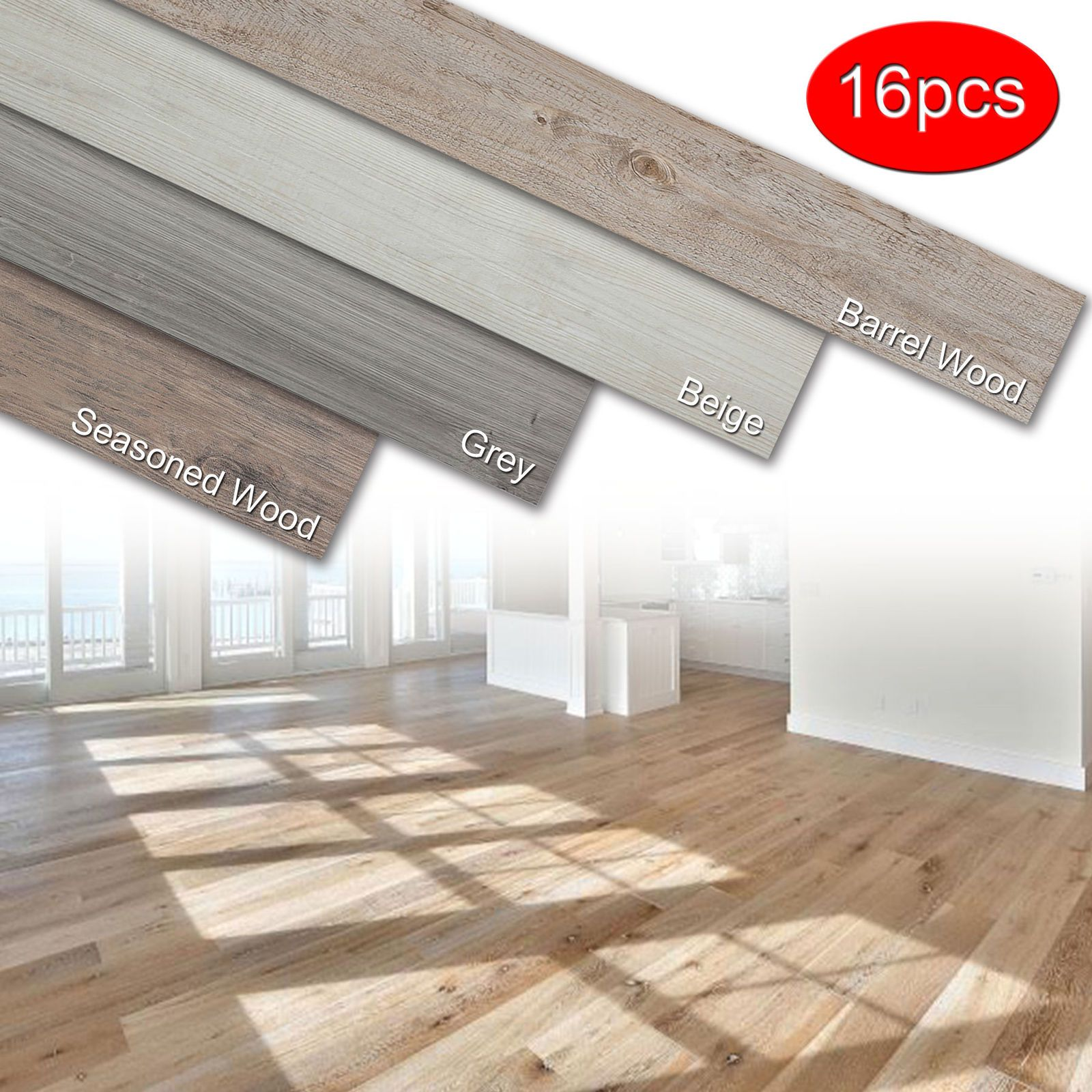 Details About Self Adhesive 16 Pcs Vinyl Floor Planks Wood Tiles Home Furnishing Peel Stick Vinyl Flooring Plank Flooring Wooden Tile