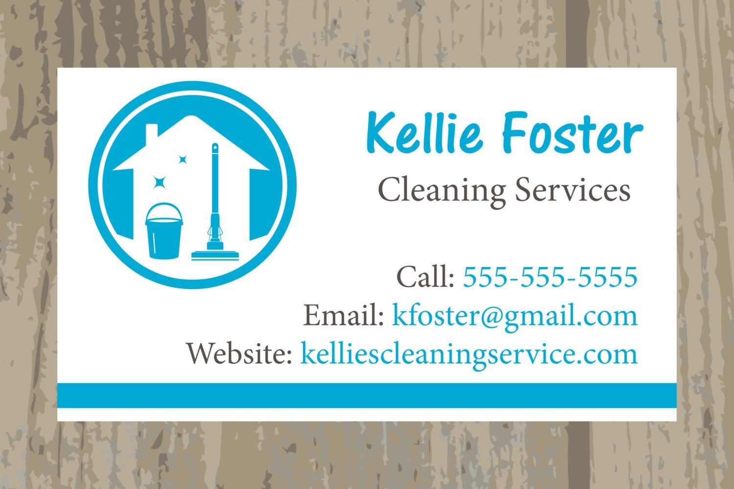 Cleaning service business cards housekeeping business