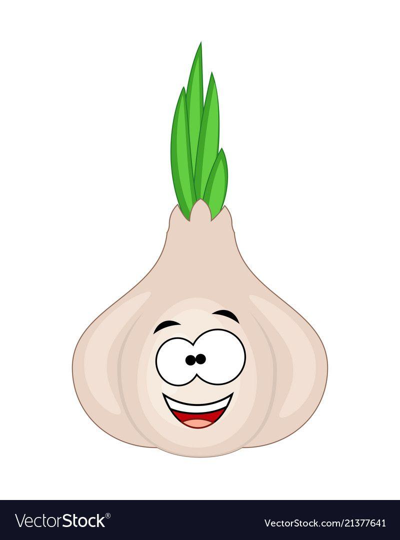 cute cartoon garlic character vector image on vectorstock cute cartoon cartoon character cute cartoon garlic character vector
