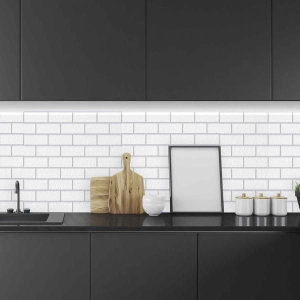Large Subway Tile Backsplash B Darling