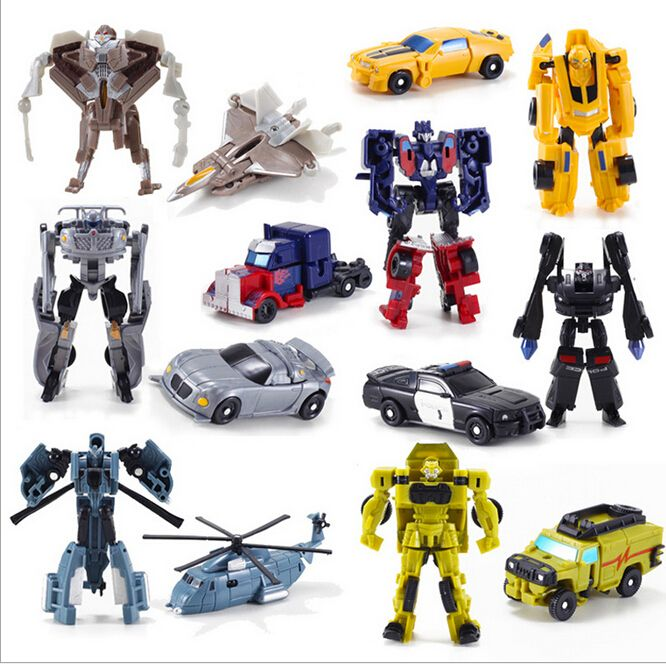 Günstige 1 STÜCKE Transformation Kinder Klassische Robot Autos ...