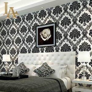 Black And White Damask Wallpaper Bedroom Wallpaper Design For Bedroom Wallpaper Bedroom Black And White Wallpaper
