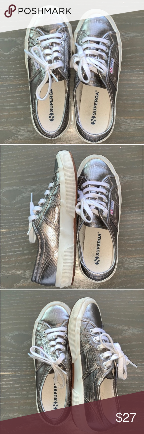 Superga - Gorgeous Pewter Sneakers in