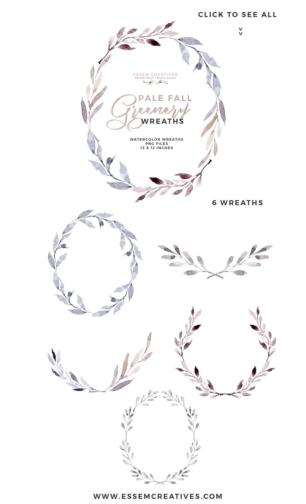 Watercolor Fall Leaves Clipart Floral Frames Watercolour Wreath ...