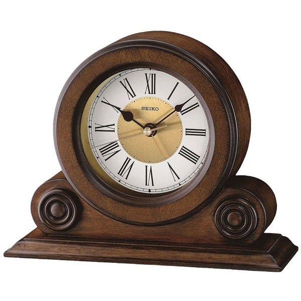 Seiko Alder Desk Clock 75 Liked On Polyvore Featuring Home Decor