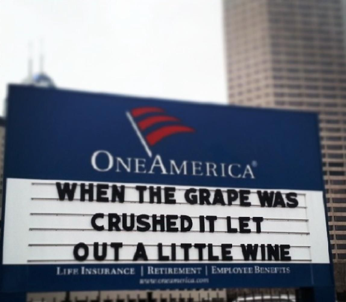 Oneamerica Signboard Sometime In April 2014 Indianapolis Indiana