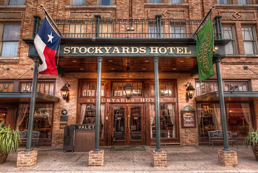 Stockyards Hotel Entrance Fort Worth James Brandon Photography