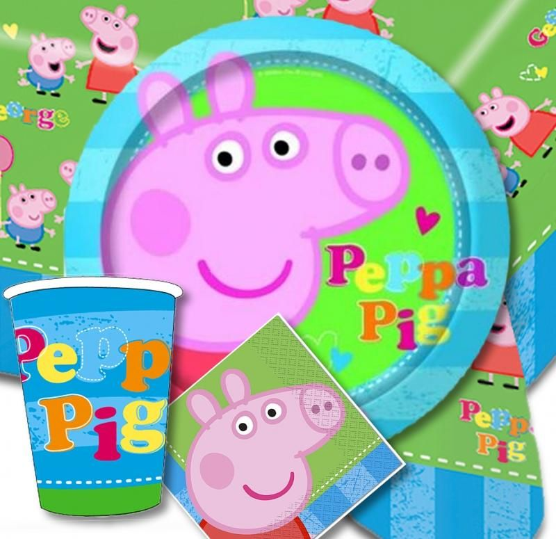 Peppa Pig Party Supplies Peppa Pig Party tableware decorations and party kits. Worldwide  sc 1 st  Pinterest & Peppa Pig Party Supplies Peppa Pig Party tableware decorations and ...