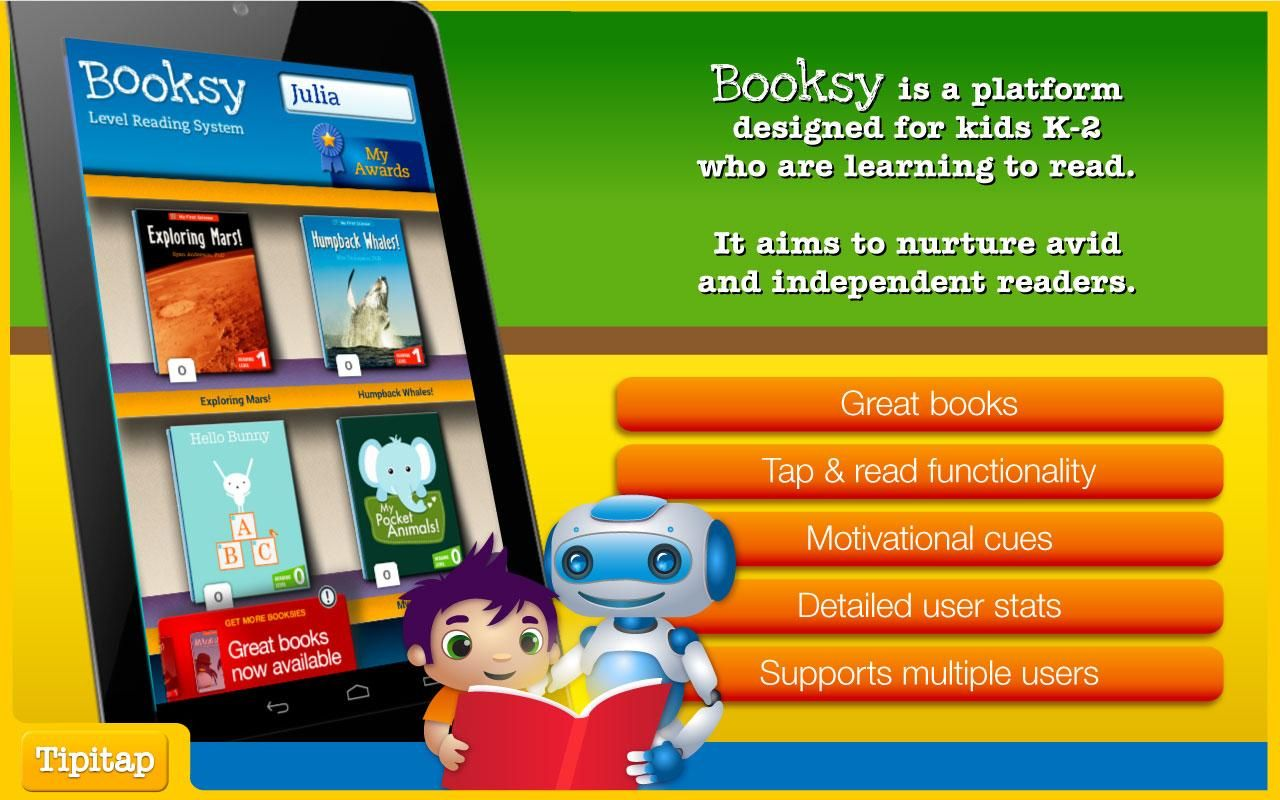 Booksy learn to read app Learn to read, Application