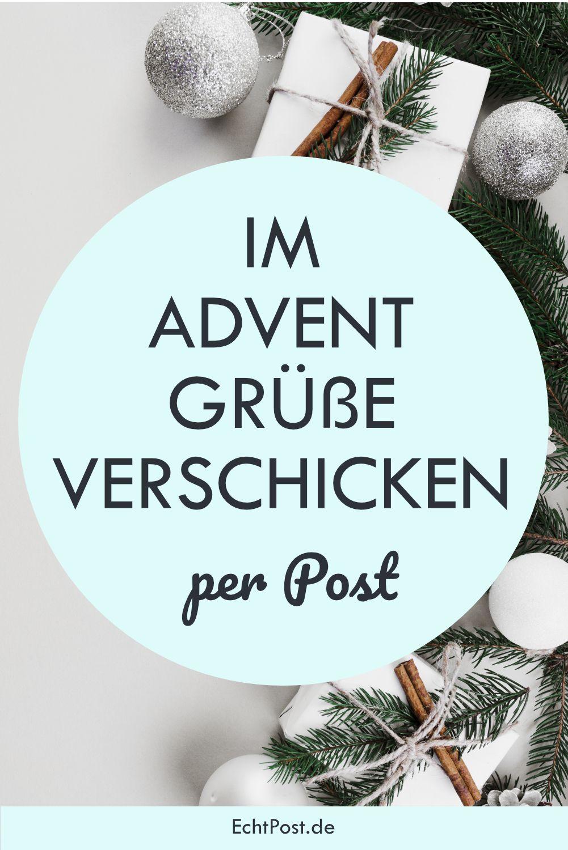 Im Advent Grusse Verschicken Per Post Advents Grusse Postkarte Verschicken Adventsgrusse