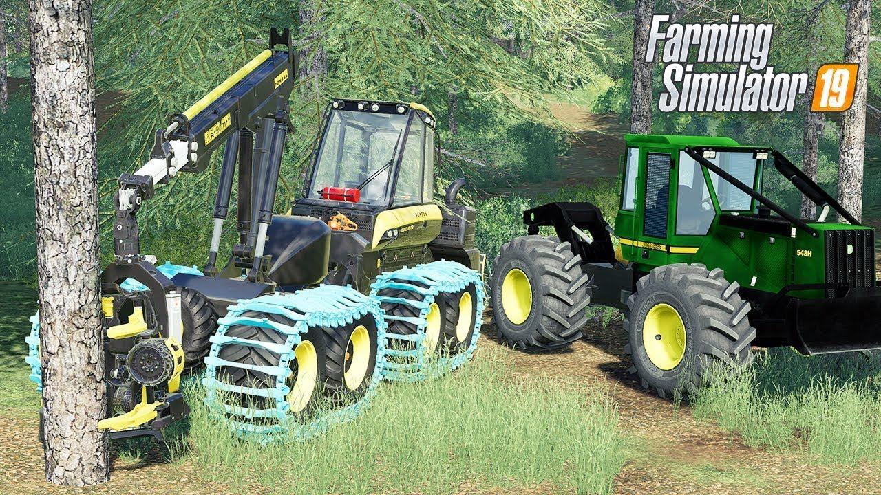 FS19 Forestry Mods - PONSSE Bear, John Deere Skidder, Freightliner