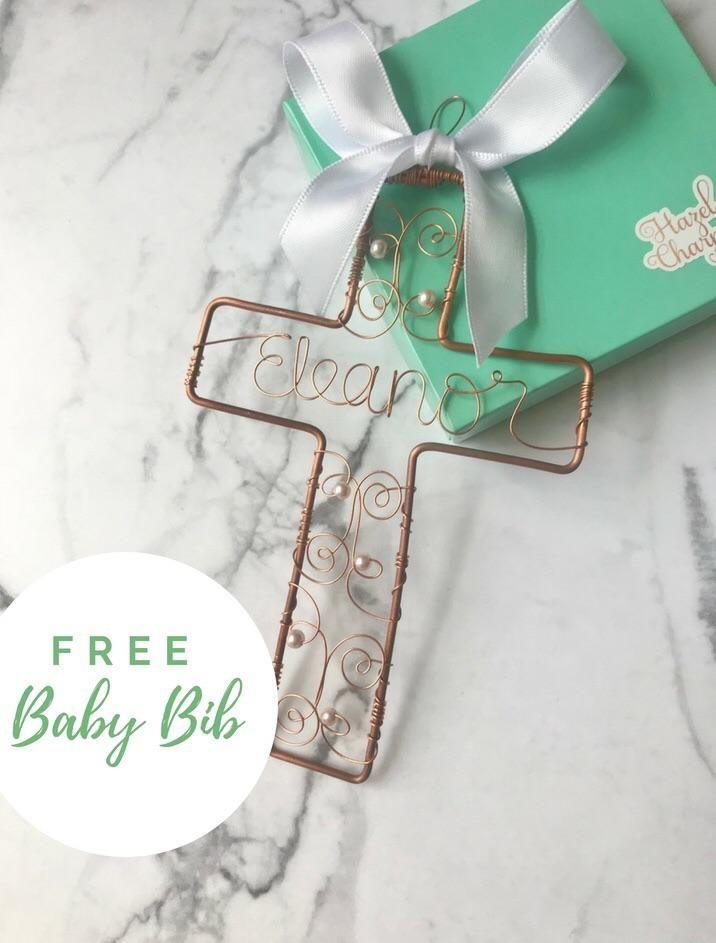 Christening Cross Unique Baptism Gift Girl Christening Gift Boy ...