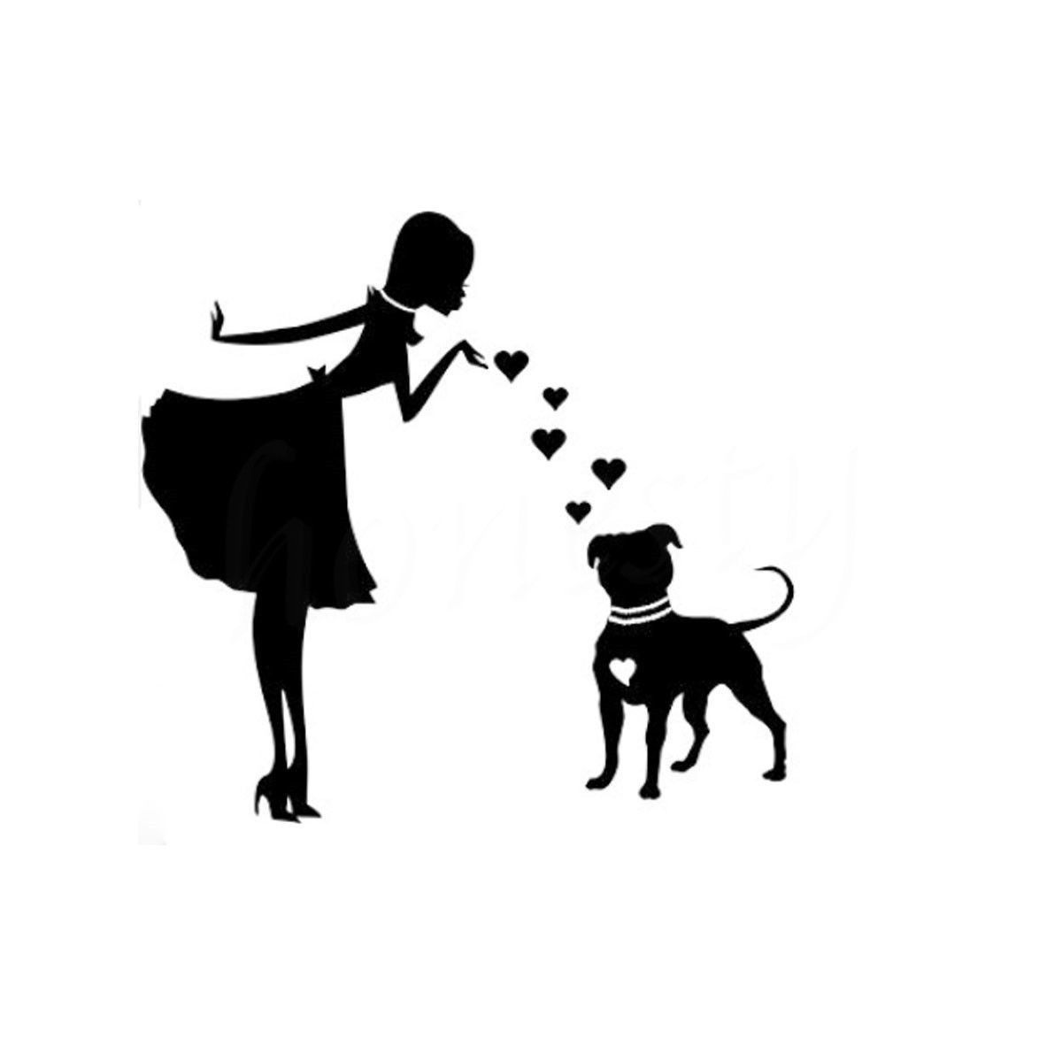 Download She Loves Her Pitbull Decal | Car decals vinyl, Dog decals ...