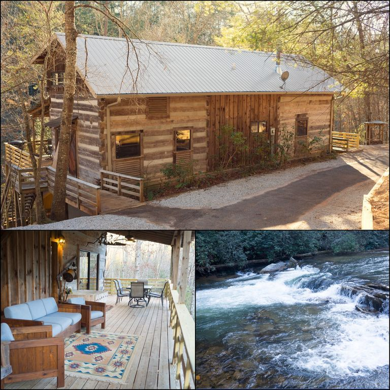 Secluded Beautiful Log Cabin Near Dahlonega Helen Cleveland Wine Country 231 Avg Night Dahlonega Amenit In 2020 Cabin Garden Log Cabins Cabins And Cottages