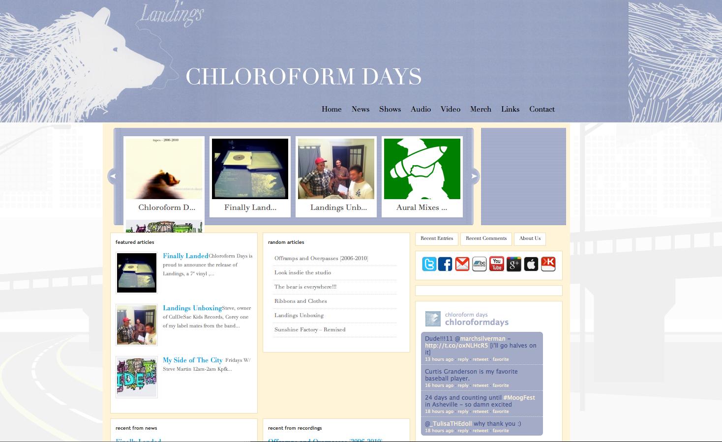 Chloroform Days, Landings