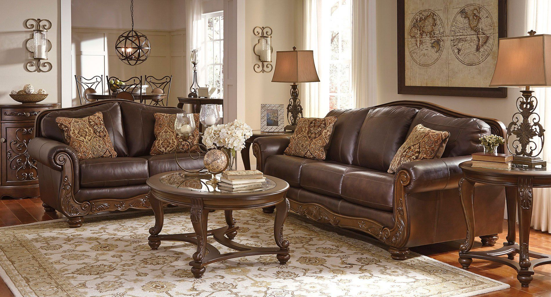 mellwood walnut living room set  living room sets walnut