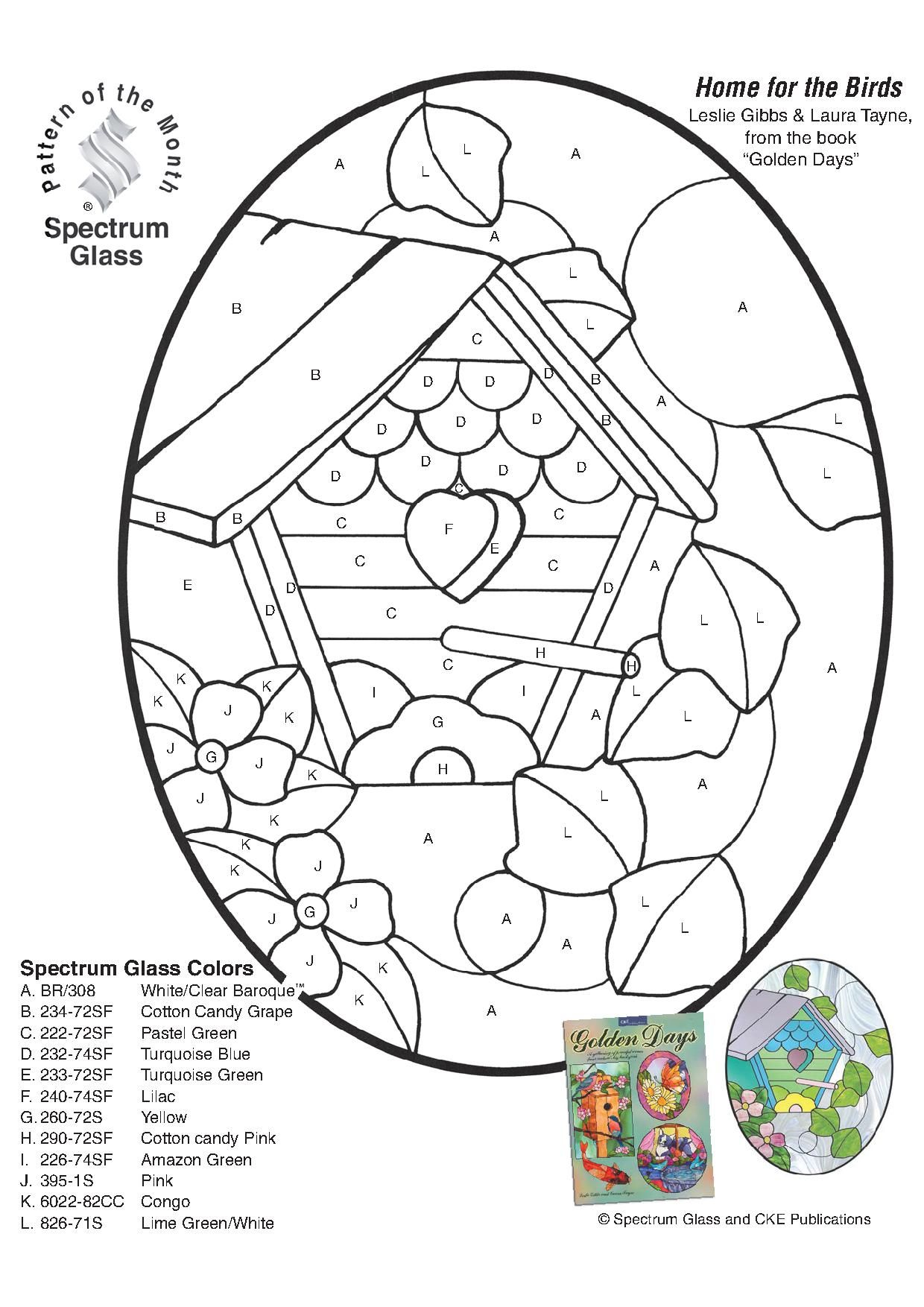 Free Stained Glass Patterns Patterns From Spectrum Glass