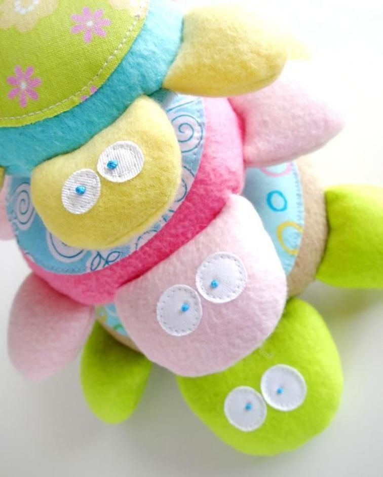 Baby turtle softies sewing toys sewing patterns baby