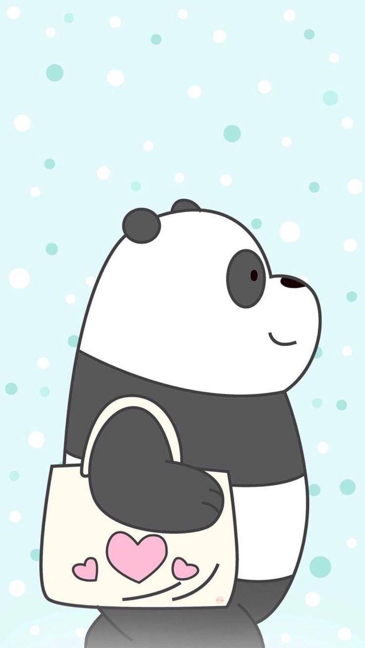 "We Bare Bears on Instagram: ""Pan Pan says hello!🐼👋 Via: @webarebears.official"""