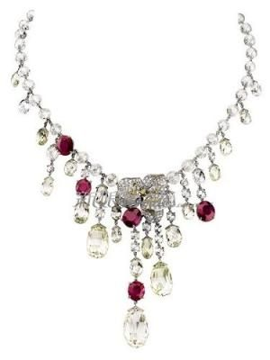 Cartier white and yellow diamonds with rubies by elvia