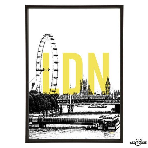 London City Skyline Pop Art Print - Graphic City Architecture ...