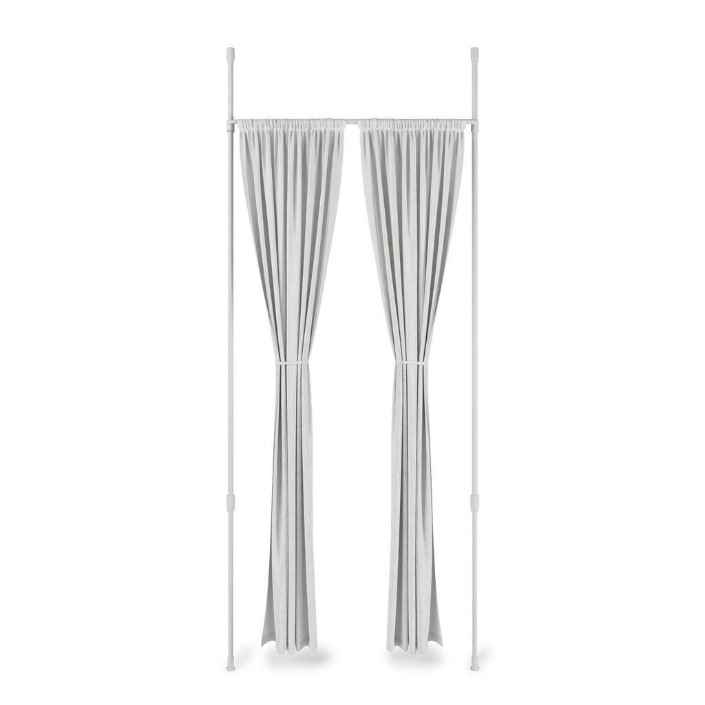 Anywhere Curtain Rod And Room Divider In 2020 Curtains Curtain