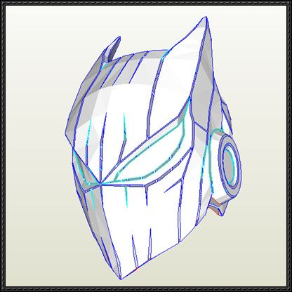 Batman Helmet Free Papercraft Download httpwwwpapercraftsquare