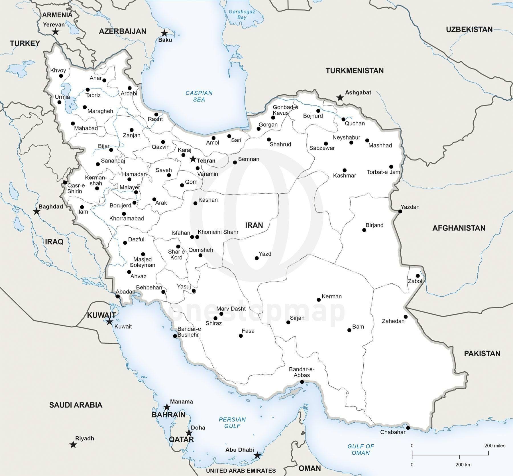 Map of Iran political | Beautiful Iran | Map vector, Map